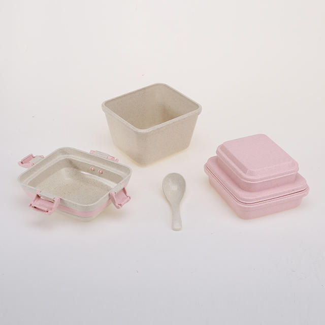 WHEAT STRAW MULTI-LAYER LUNCH BOX ECO-FRIENDLY BENTO CONTAINER