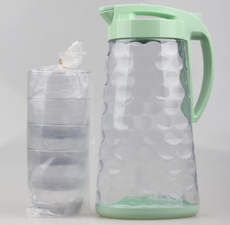 PLASTIC JUG 2300ML WITH 4CUPS 300ML WATER POT KETTLE