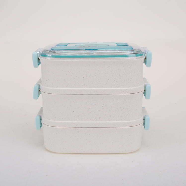 1 2 3 LAYER BAMBOO FIBER LUNCH BOX AND 304#STAINLESS STEEL BENTO BOX