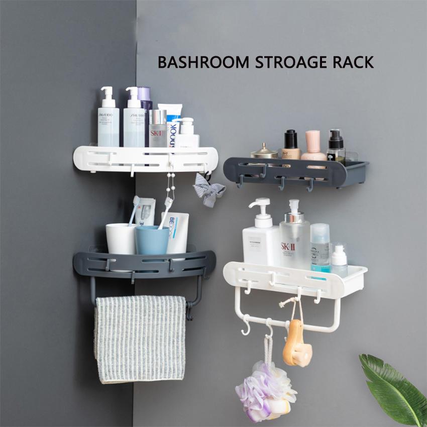 Four Kinds Bathroom Storage Rack Plastic Storage Shelf