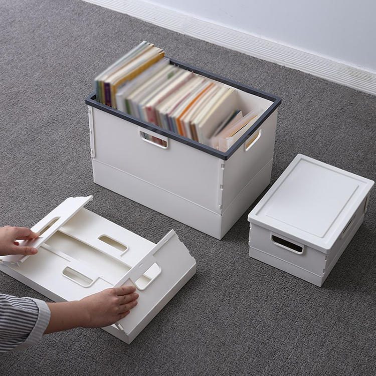 Three Sizes of Plastic Folding Storage Box Used for Student Businessman