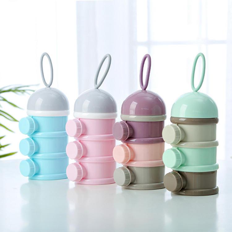 Three Styles 3-layer milk powder box Used for Kid