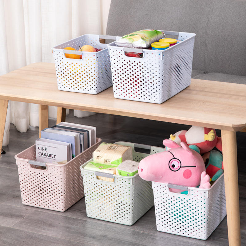 Simple Style Plastic Hollow Storage Basket