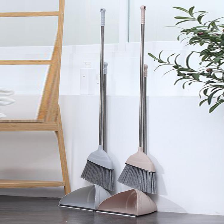 430#Stainless Steel Plastic Dustpan and Broom Set