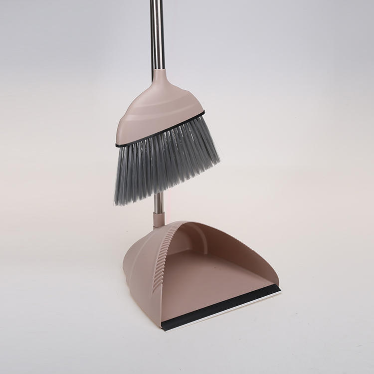 430#Stainless Steel Plastic Dustpan and Broom Set