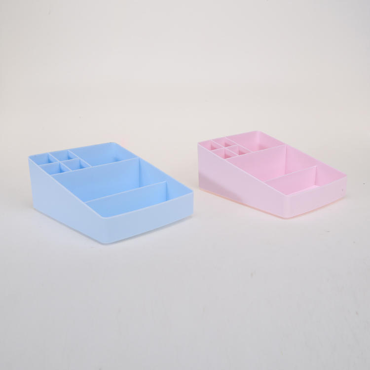 Two Colors Plastic Compartment Storage Container for Panties and Socks