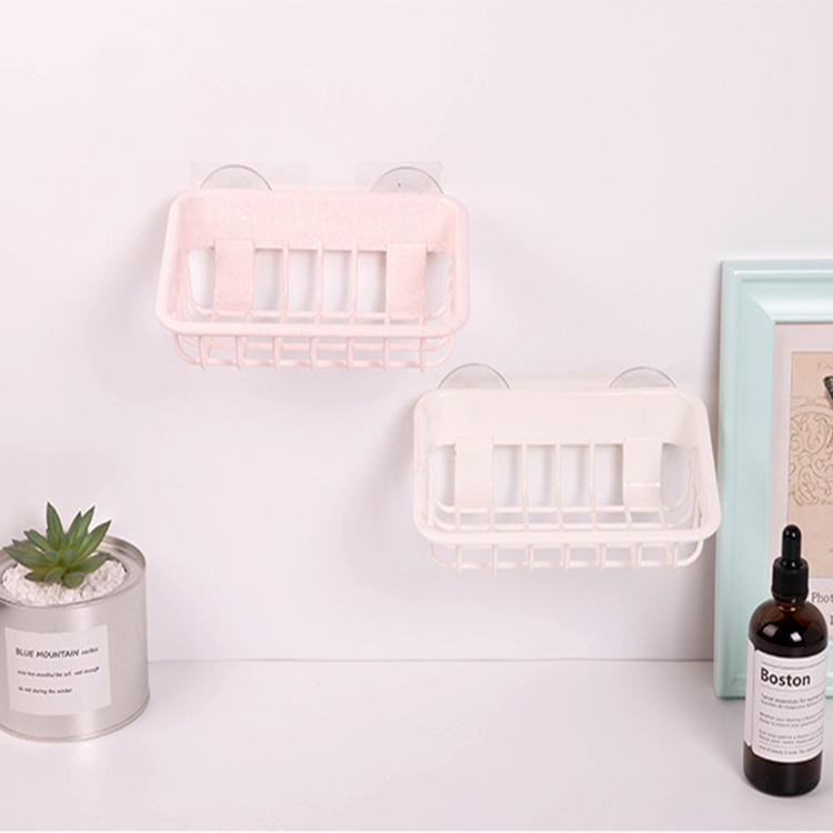Creative Rubber Suction Cups Plastic Storage Rack Shelf