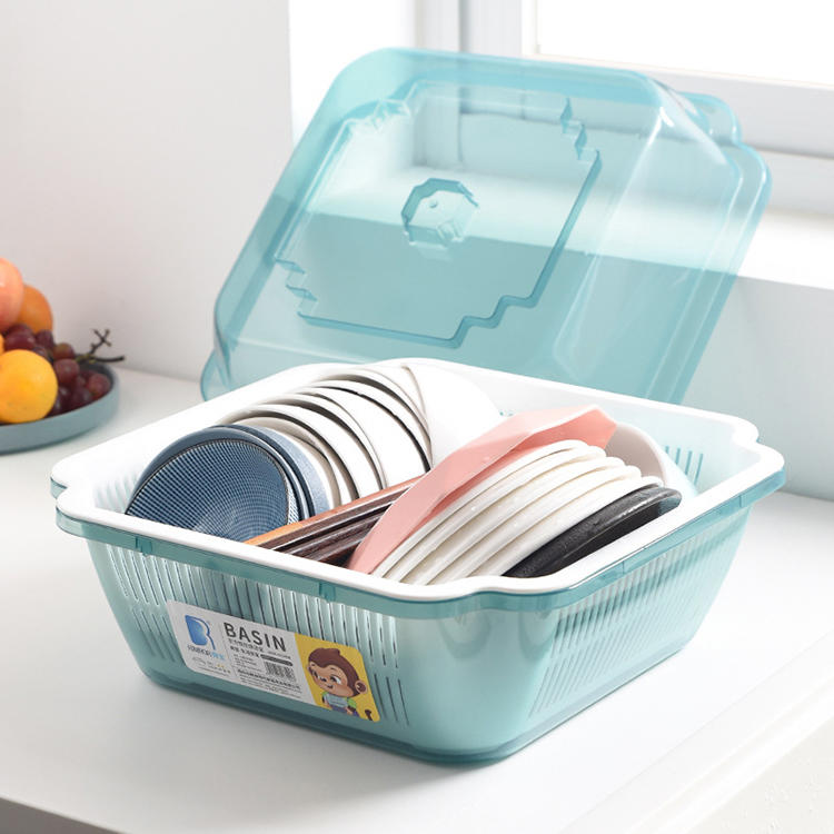 Plastic Multifunctional Drain Basket Dustproof Cupboard