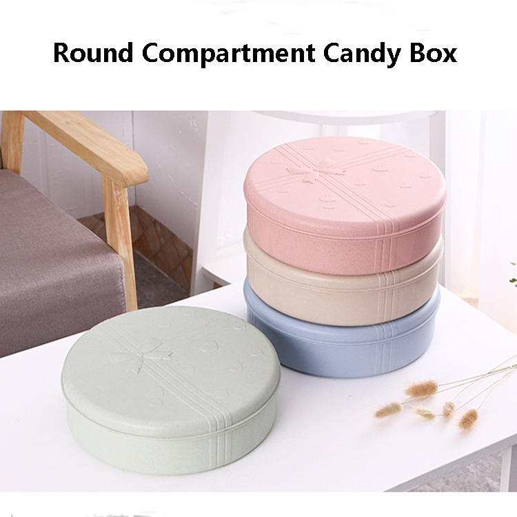 Wheat Straw Round Heart-shaped Square Candy Box