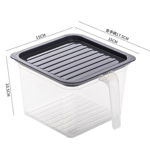 Durable Plastic Fresh-keeping Box with Handle