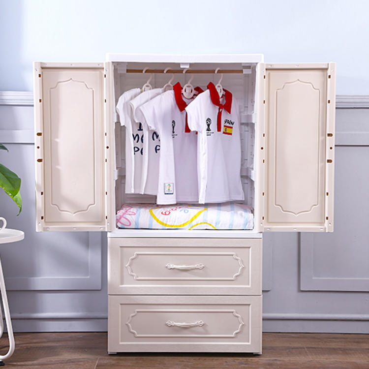 Three Types Wardrobe European Style Drawer Cabinet