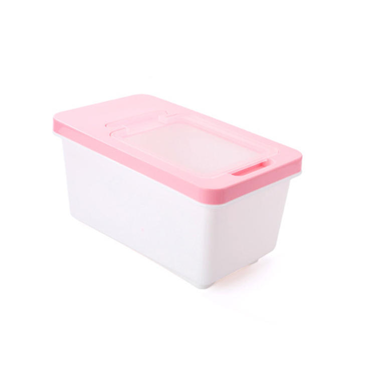 Flip-shell Rice Bucket Plastic Rice Container