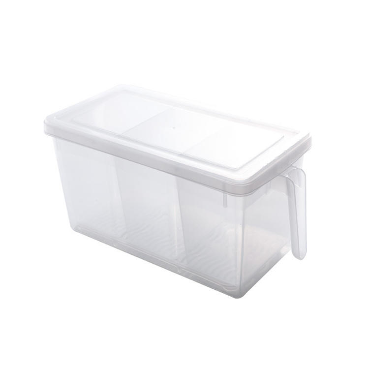 FRESH-KEEPING BOX (3 COMPARTMENTS) WITH HANDLE