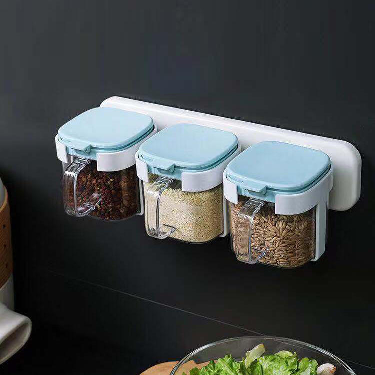 Wall-mounted Seasoning Box Drawer Type Condiment Box