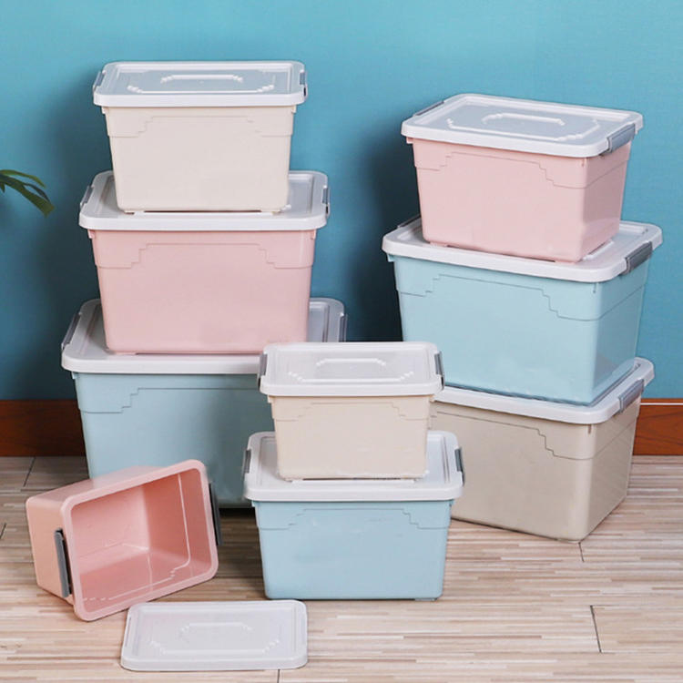 Storage Container with Wheel Has Five Sizes Plastic Storage Box