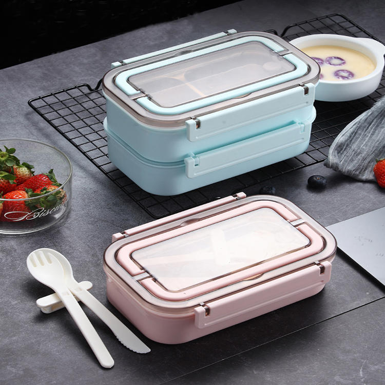 Elegant 304#Stainless Steel Single and Double Layers Lunch Box
