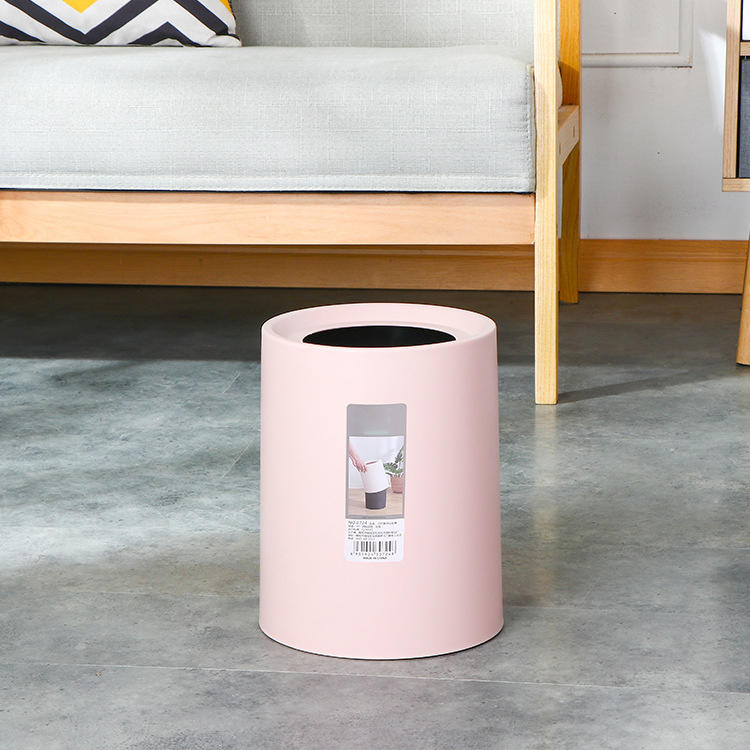 Plastic Trash Can with Double Bucket Design Waste Bin
