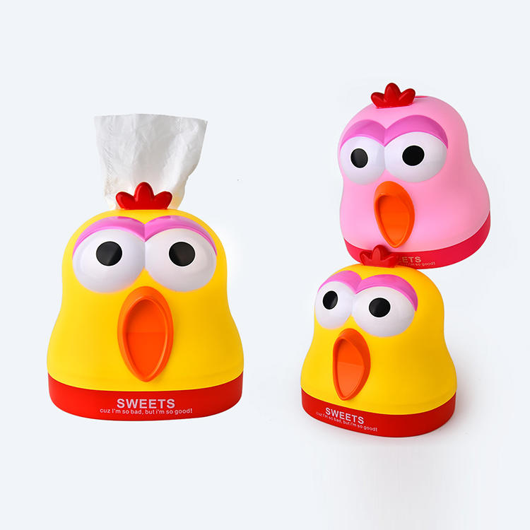 Plastic Cute Carnival Chicken Tissue Box
