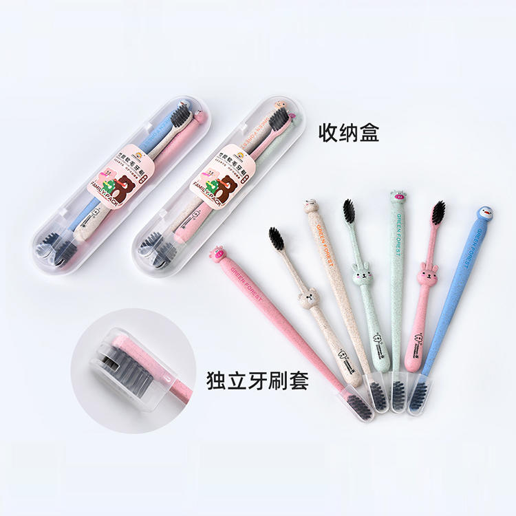 3Pcs Family Pack Bamboo Charcoal Soft Toothbrush