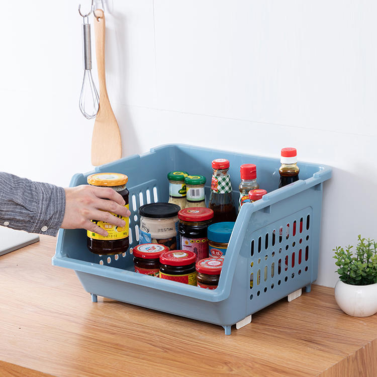 1-5 Layers of Stackable Storage Basket with Wheels