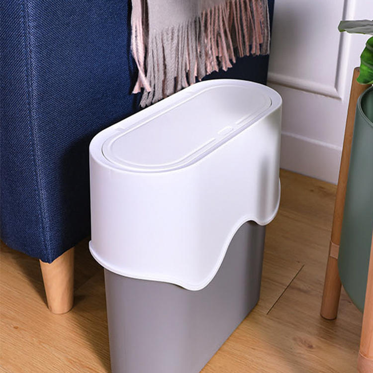 Waste Bin Dry and Wet Garbage Sorting Plastic Trash Can