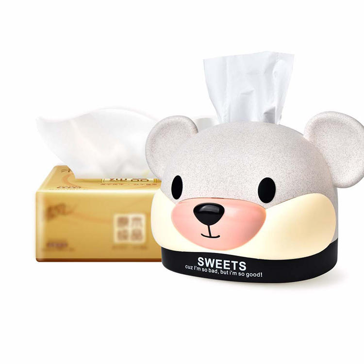 Wheat Straw Mouse Tissue Box Plastic Napkin Box