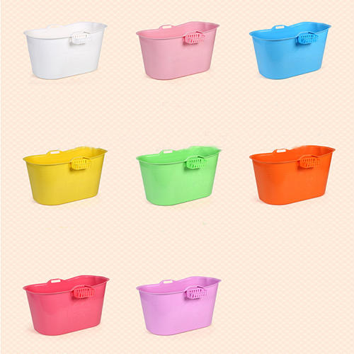 Eight Colors Bath Tub with Hole Used for Kid or Adult