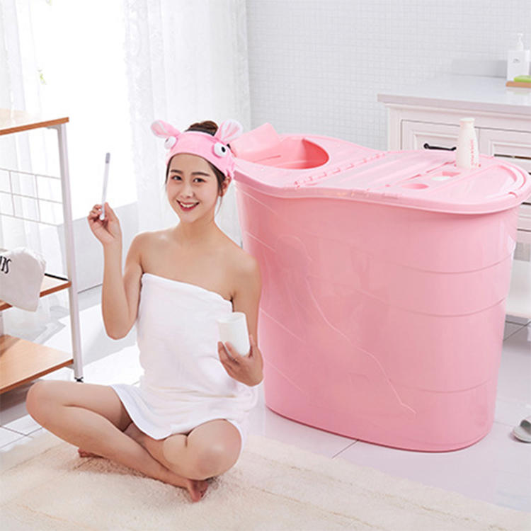 Extended Bath Tub with Hole with Lid Four Colors