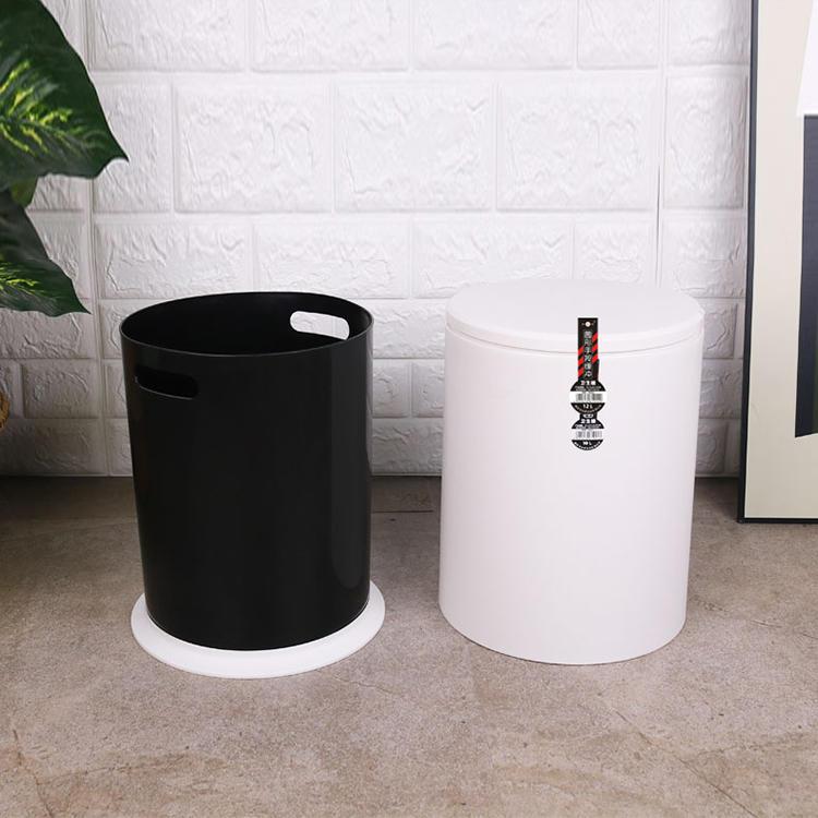 Round Slow Descent Waste Bin Plastic Trash Bin