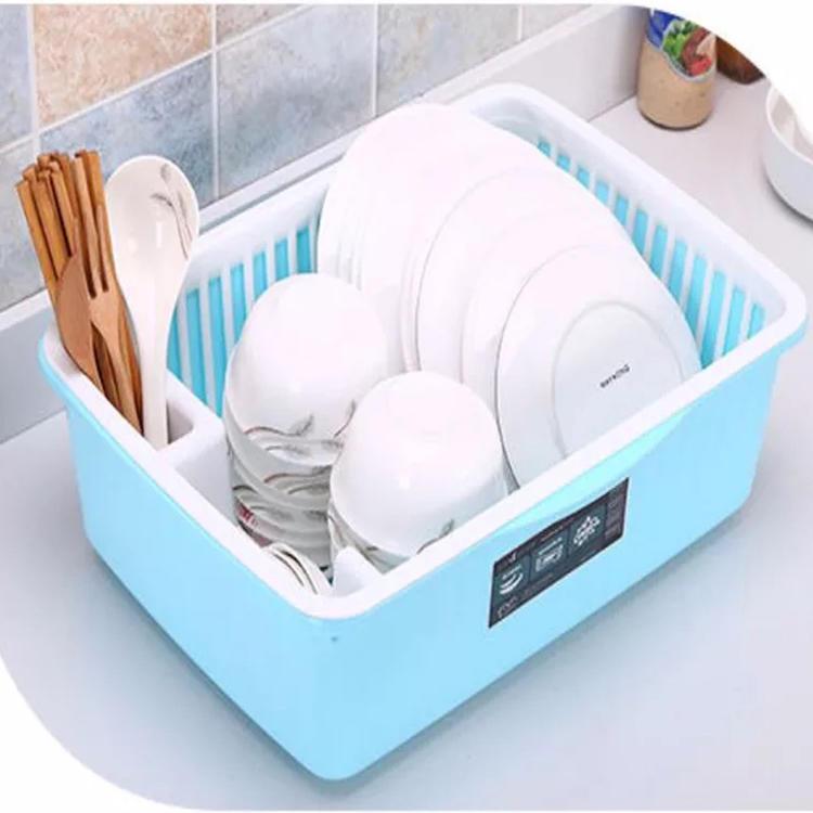 Plastic Kitchen Cabinet Sortable Cupboard Dish Holder