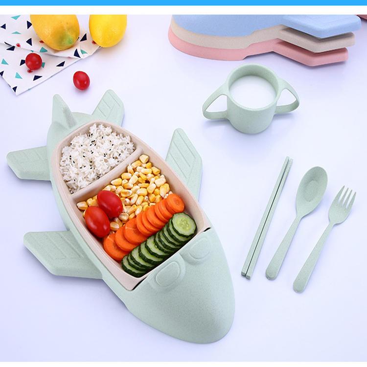 Five-piece Dinner Plate Cup Chopsticks Spoon Fork