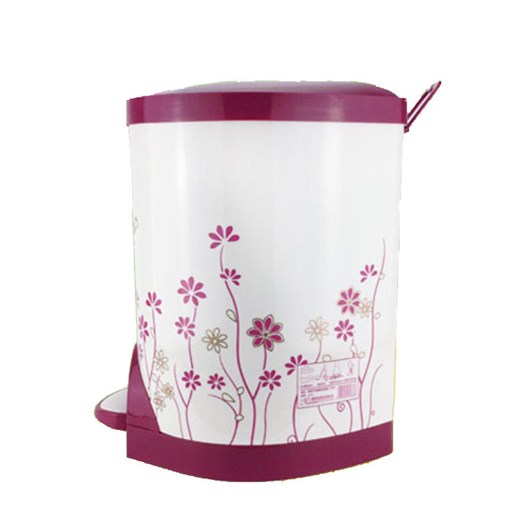 Silent Descent Sanitary Bucket Plastic Waste Bin Trash Can