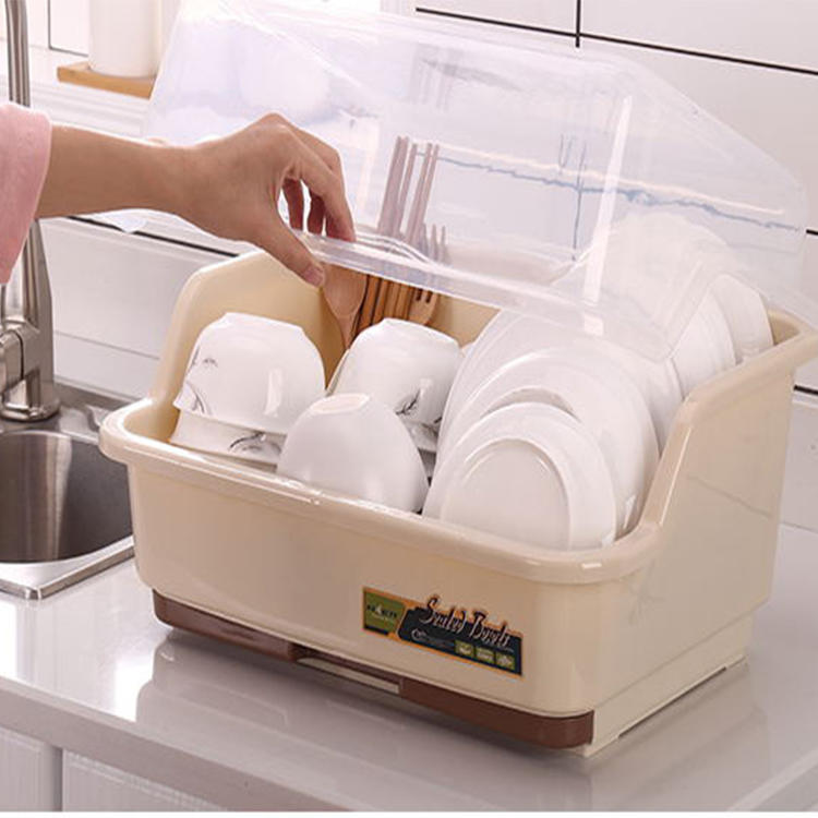 Plastic Cupboard Durable Dish Holder with Four Sizes