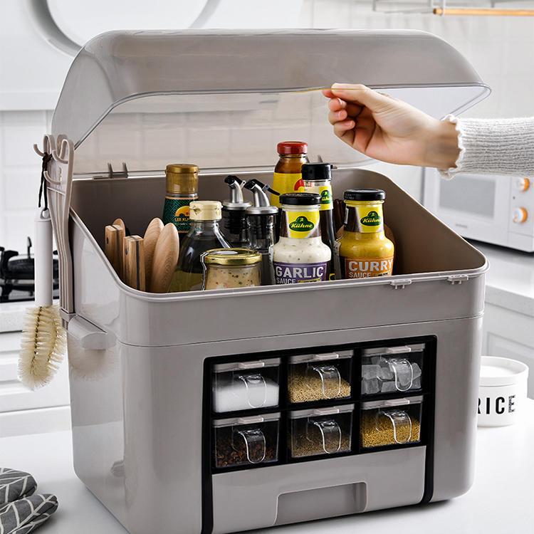 Multifunctional Household Kitchen Seasoning Storage Rack