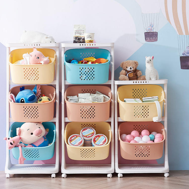 Household Multi-layer Wholesale Toy Storage Rack for Kid