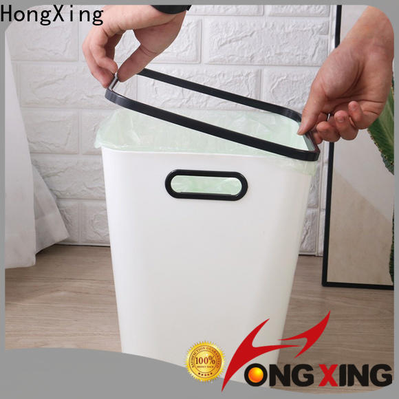 HongXing trash plastic kitchen trash cans bulk production for home