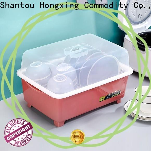 HongXing drain plastic dish rack in different color to store vegetables