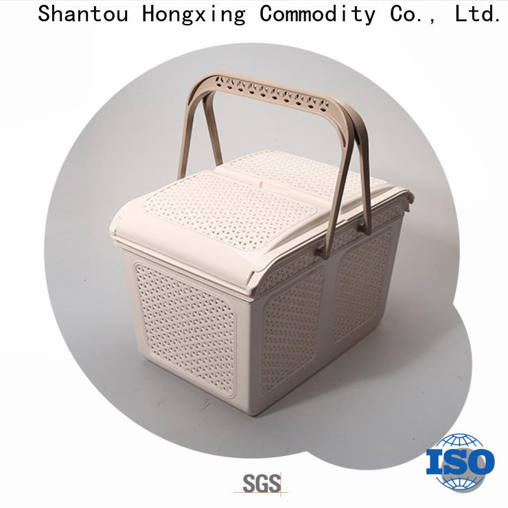 HongXing different shapes plastic laundry basket with lid with affordable price for storage toys
