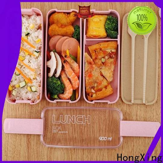 HongXing fiber plastic lunch box good design for candy