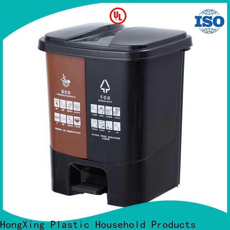 HongXing trash plastic kitchen trash cans bulk production for bedroom