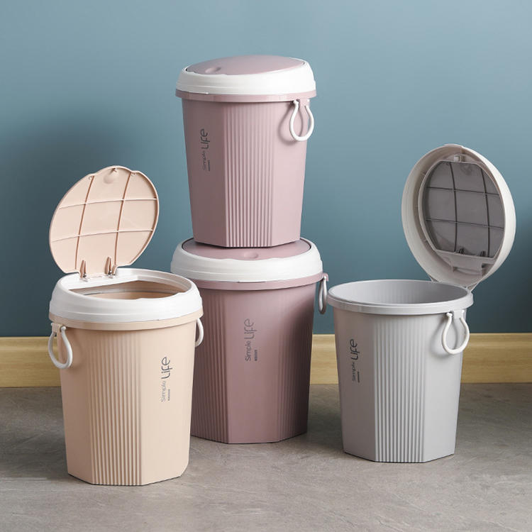 Cartridge Lid Trash Can Eco-friendly Trash Bin Plastic Waste Bin