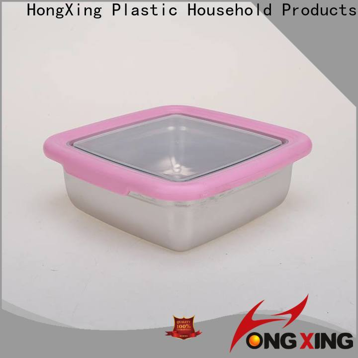 HongXing square food storage containers for snack