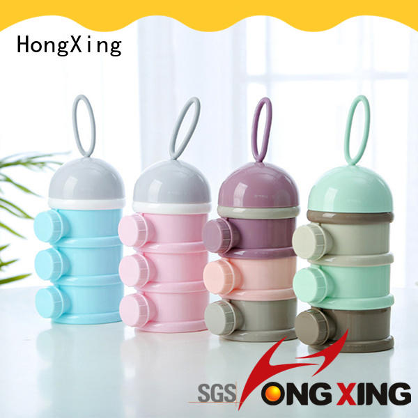 HongXing rabbit baby milk powder dispenser container from China for student