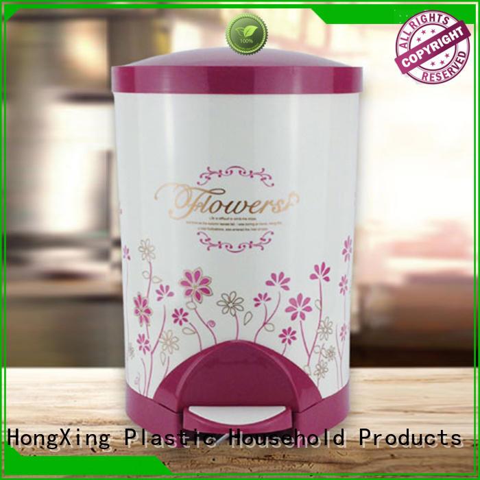 HongXing plastic plastic kitchen trash cans free design for bedroom