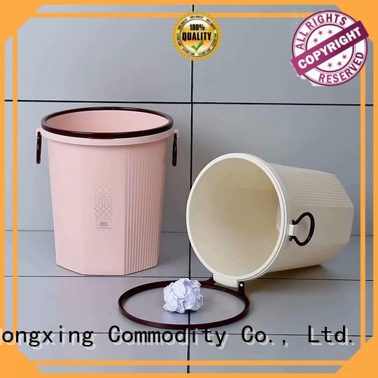 HongXing Microwave Safe plastic waste bins bulk production for home