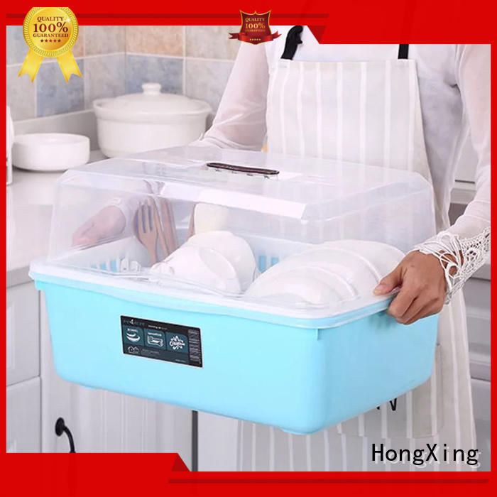HongXing cupboard kitchen plastic items button design to store dishes