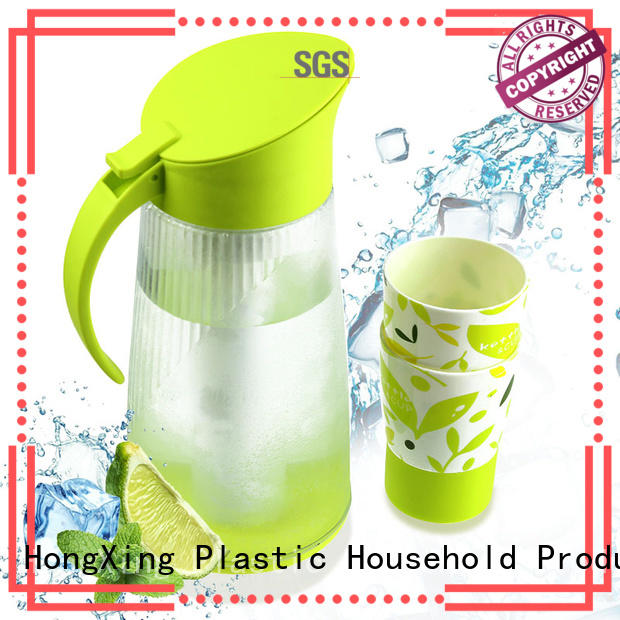 HongXing clear plastic jugs with lids good design to store vegetables