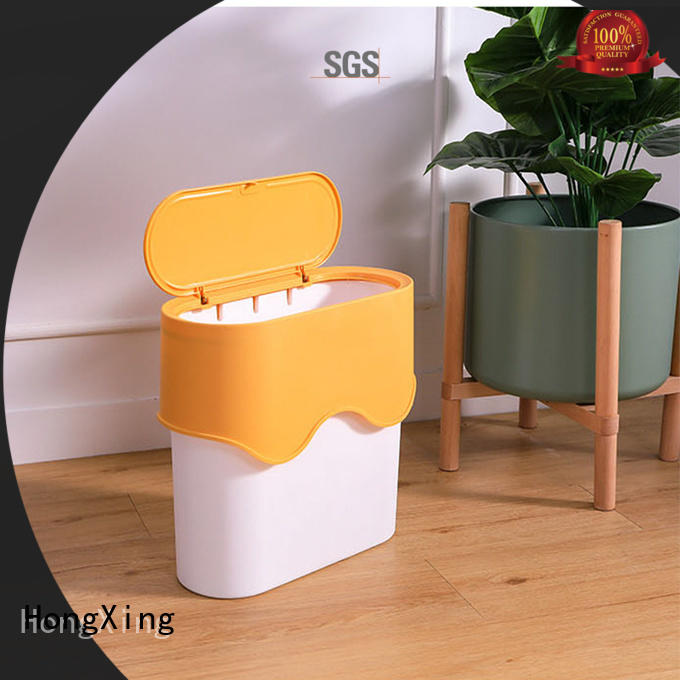 HongXing can plastic kitchen trash cans bulk production for room