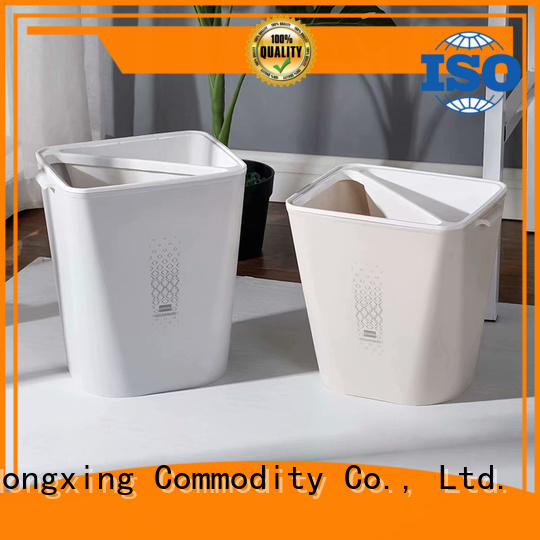HongXing plastic trash cans with many colors for home