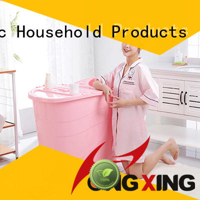 HongXing hole mini plastic bathtub stable performance for living room